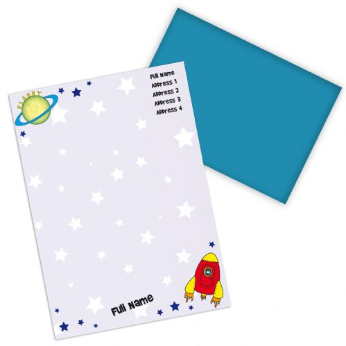 Personalised Space Stationery Set